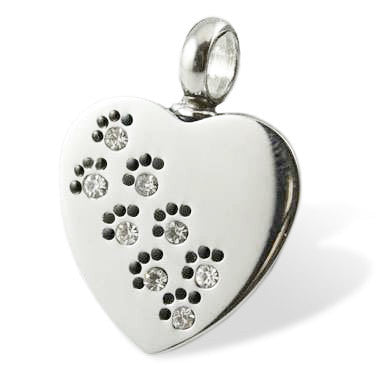 LIFE CYCLE CREMATION PENDANT - PAWS TO HEAVEN HEART
