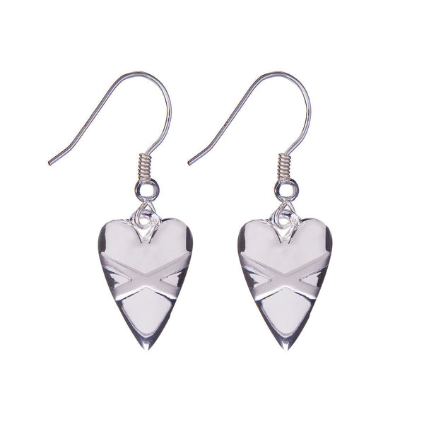 Cross My Heart Earrings - Silver