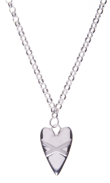 Cross My Heart Necklace - Silver