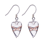Cross My Heart Earrings - Silver & Rose Gold