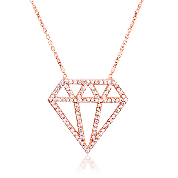 OPEN DIAMOND PENDANT - ROSE GOLD