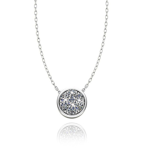 Love In A Jewel Chic Pendant - Silver with Swarovski Crystal