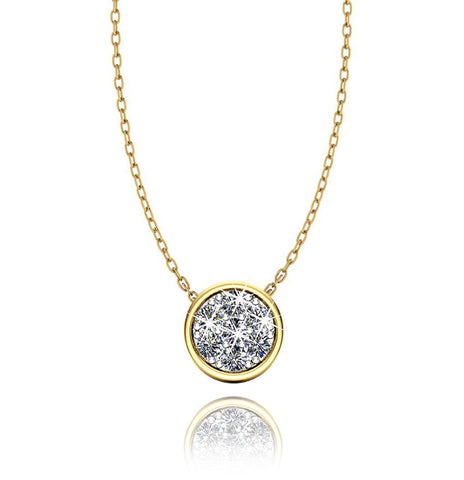 Love In A Jewel Chic Pendant - 9ct Yellow Gold with Diamonds