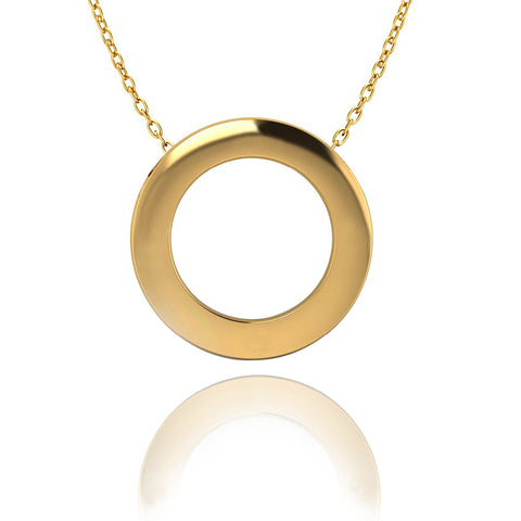 Love In A Jewel Circle Of Love Pendant - 9ct Yellow Gold, Plain