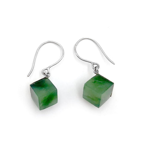 Nick Von K Pounamu Cube Earrings