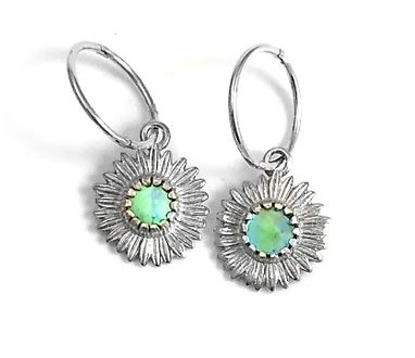 Nick Von K Daisy Earrings - Paua