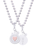 "Heart Sterling Silver Declaration Pendant ""Love Life Live"""