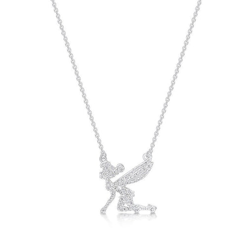 Junior Tinker Bell Silhouette Pave` Necklace