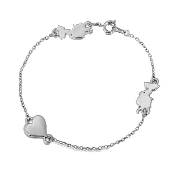 Alice In Wonderland Heart Bracelet