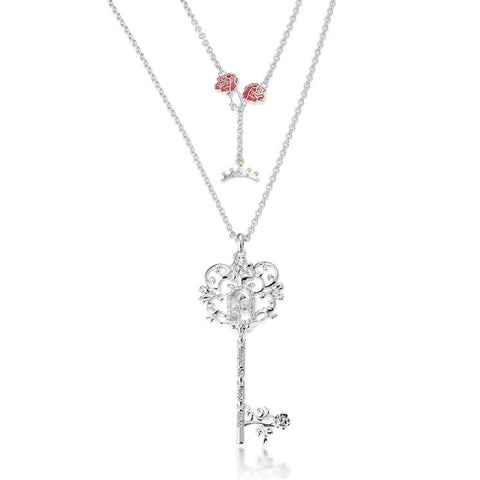 Couture Kingdom Disney Princess Beauty and the Beast Key Necklace