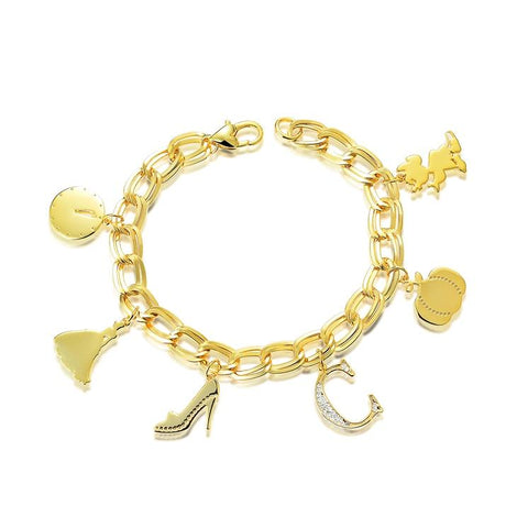 Couture Kingdom Disney Princess Cinderella Charm Bracelet