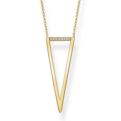 Thomas Sabo Gold Plated Triangle Necklace - D_KE0008Y