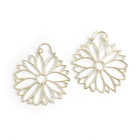 Nick Von K Gold Dipped Daisy Dreamcatcher Earrings