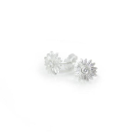 NICK VON K DIAMOND DAISY STUD EARRINGS