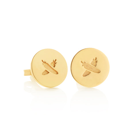 Boh Runga Discologo Studs 9ct Yellow Gold