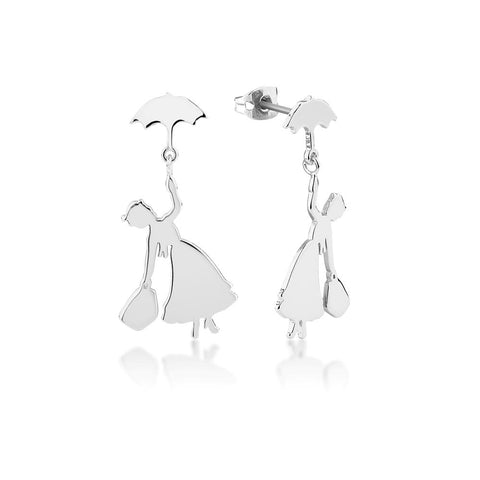 Disney Mary Poppins Flying Umbrella Drop Earrings