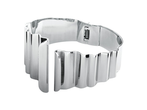 Dyrberg/Kern Drepage Shiny Silver Bangle