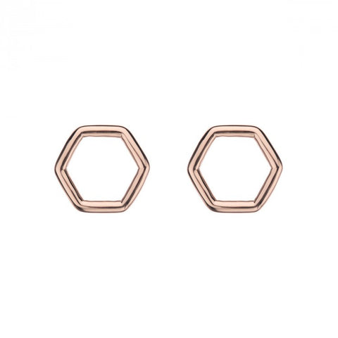The Hex Stud Earring (Rose)