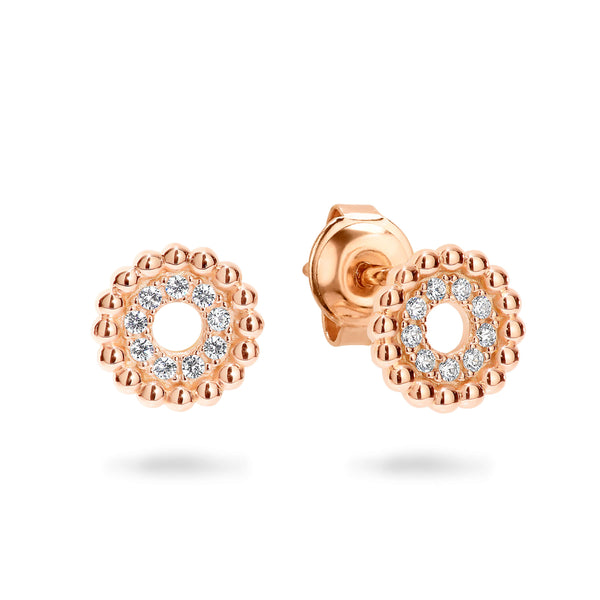 Georgini Aries Rose Gold Earring - Rose Gold