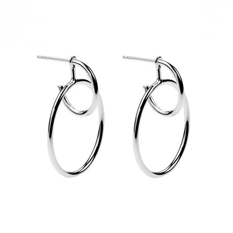 Najo Double Loop Jacket Hoop - Silver