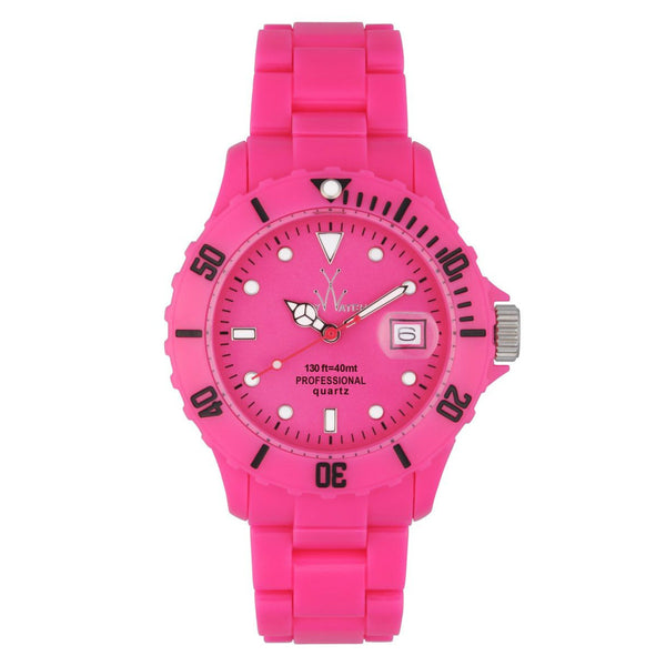 TOYWATCH - PINK RESIN FLUO