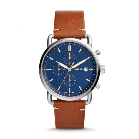 Fossil The Commuter Chronograph Light Brown Leather Watch - FS5401