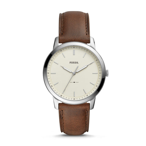 Fossil The Minimalist Three-Hand Brown Leather Watch - FS5439