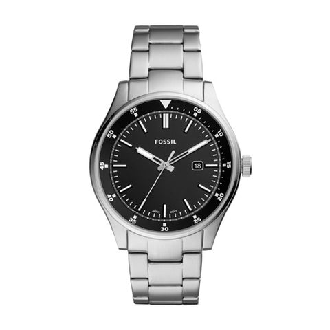 Fossil - MD RD SLV BLK BRC WATCH