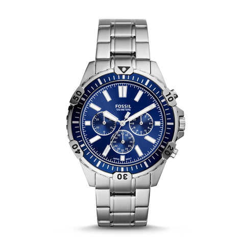 Fossil - Garrett Chronograph Silver-Tone Stainless Steel Watch