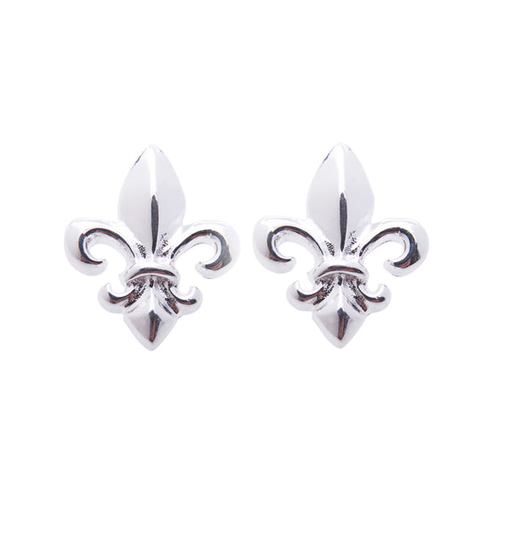 Sterling Silver French Lily Studs