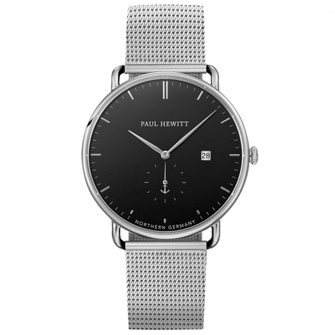 Paul Hewitt Watch Grand Atlantic Line Black Sea Stainless Steel Mesh Strap