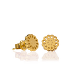 Boh Runga Lotus Studs - 9ct Yellow Gold
