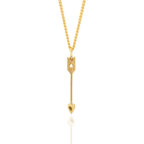 9CT GOLD PETITE ARROW PENDANT