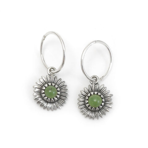 Nick Von K - Daisy Earrings - Greenstone