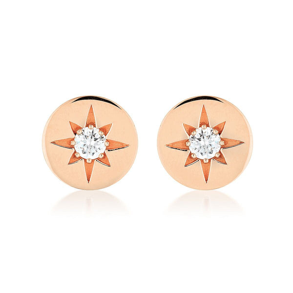 Georgini Stellar Lights Rose Gold Stud Earrings