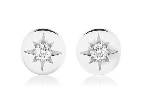 Georgini Stellar Lights Silver Stud Earrings