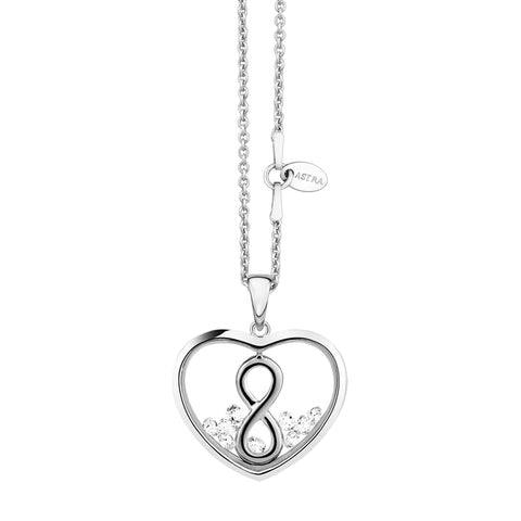 "Astra ""Infinity Heart"" Pendant - Silver"