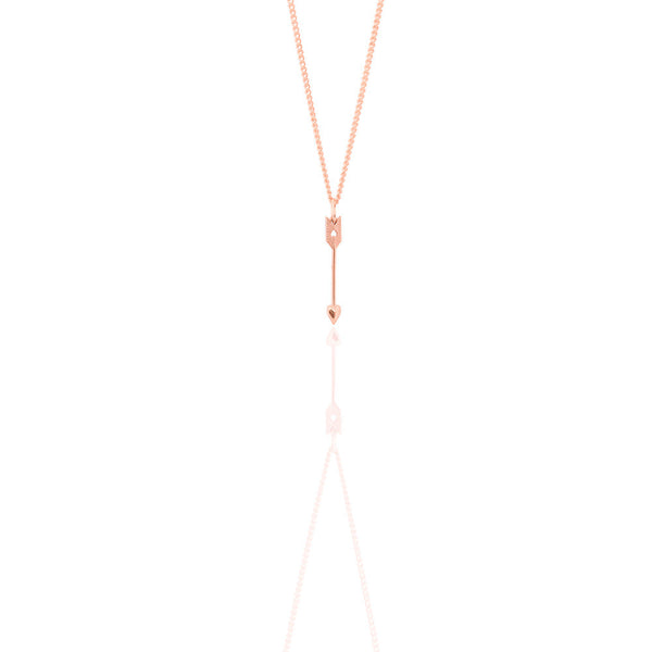 ROSE GOLD * LIMITED EDITION* ARROW PETITE PENDANT
