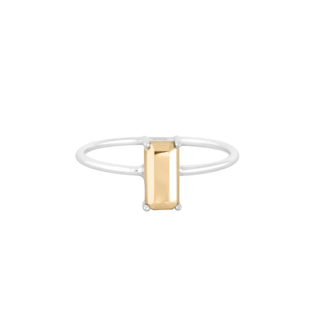Boh Runga Modern Classic Gold Baguette Ring - 9ct Yellow Gold, Size K
