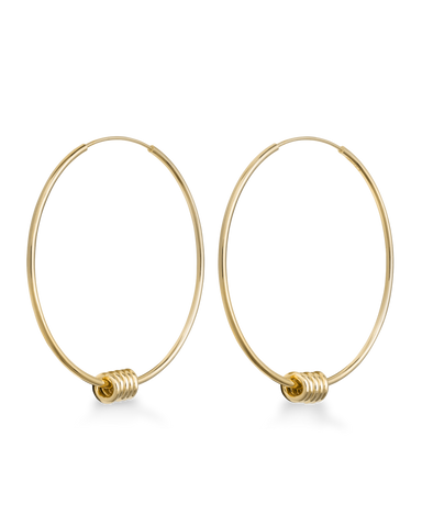 Rosefield  - Iggy - Spring Hoop Large Gold earrings