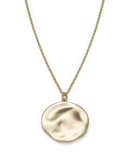 Rosefield - Iggy Textured Coin Necklace Gold