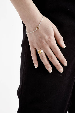 Stolen Girlfriends Club - Love Claw Bracelet - Yellow Citrine