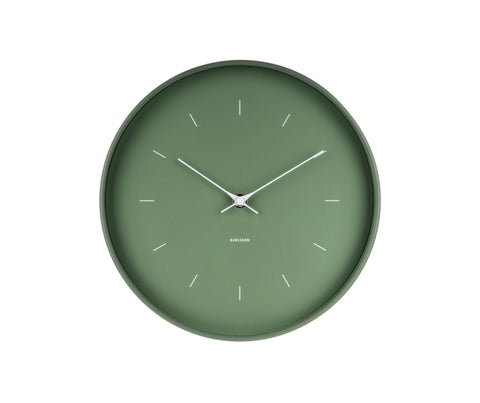 Karlsson Wall Clock Butterfly - Green
