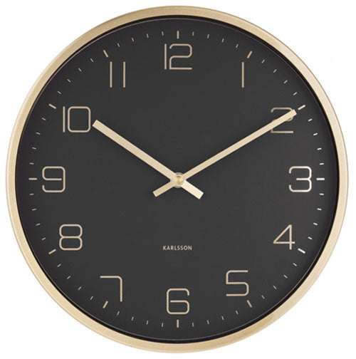 Karlsson Gold Elegance Clock - Black