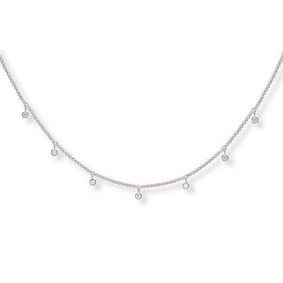 THOMAS SABO STERLING SILVER GLAM & SOUL NECKLACE 40-45CM