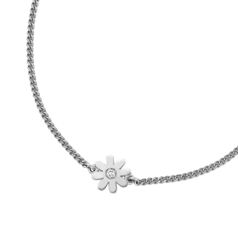 Karen Walker Mini Daisy Pendant - Silver, Diamond