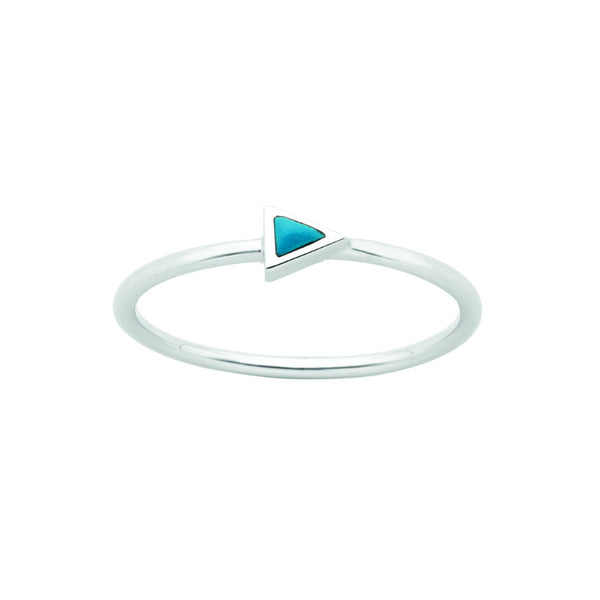 Karen Walker Fine Arrow Ring Silver Turquoise