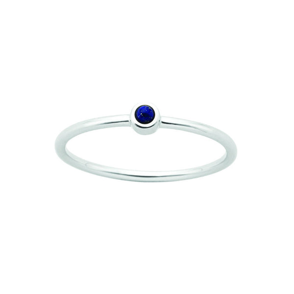 Karen Walker Fine Orbit Ring Silver Lapis