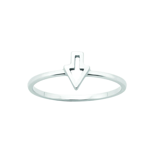 Karen Walker Superfine Runaway Arrow Ring Silver