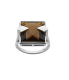 Karen Walker Ballistic Ring - Silver, Smokey Quartz